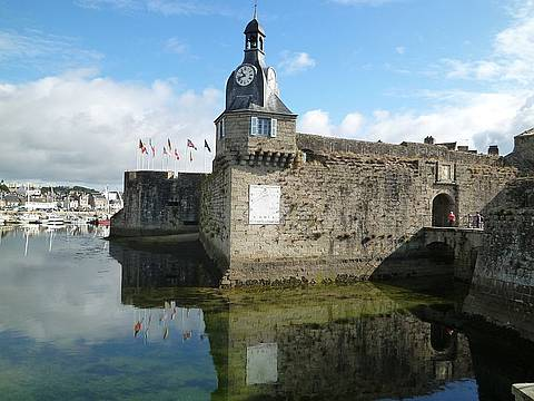 Stadtmauer Ville Close in Concarneau