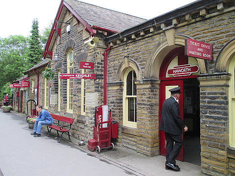 Keighly Worth Valley Railway in Haworth
